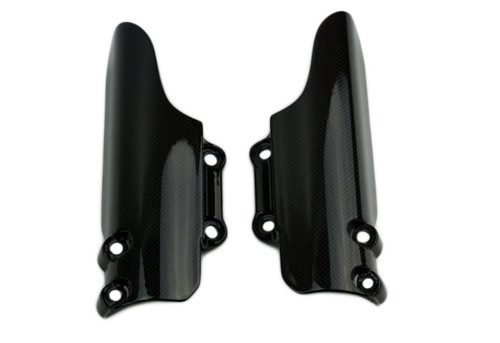 Fork Protectors (Urban Enduro) in Glossy Plain Weave Carbon Fiber for Ducati Scrambler