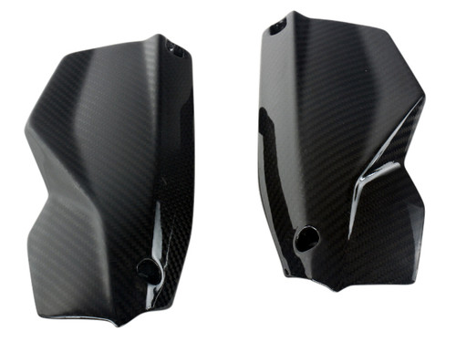 Hand Protectors in Glossy Twill Weave Carbon Fiber for KTM Duke 690 III 2008-2011