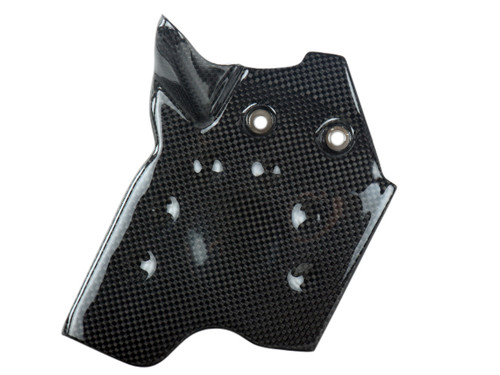 Front Sprocket Cover in Glossy Plain Weave Carbon Fiber for KTM Duke 690 II 1998-2007