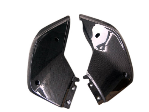Upper Side Fairings in Glossy Plain Weave Carbon Fiber for KTM Duke 690 2012+