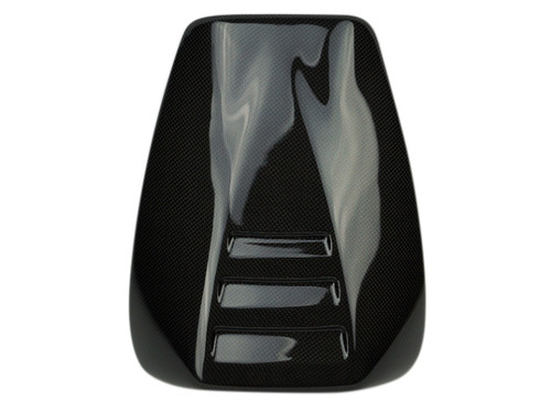 Seat Cowl in Glossy Plain Weave Carbon Fiber for Aprilia Tuono 2002-2005