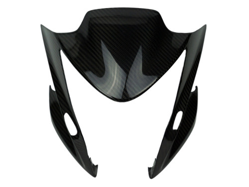 Front Fairing in Glossy Twill Weave Carbon Fiber for Suzuki GSX-S1000 2015+