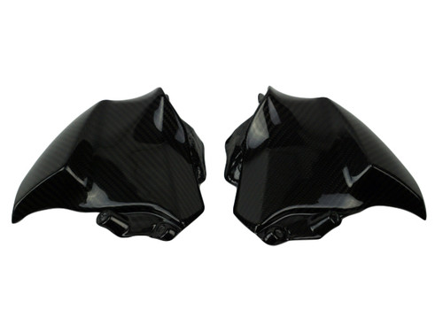 Under Tank Side Panels in glossy twill weave carbon fiber for Suzuki GSX-S1000 2015+
