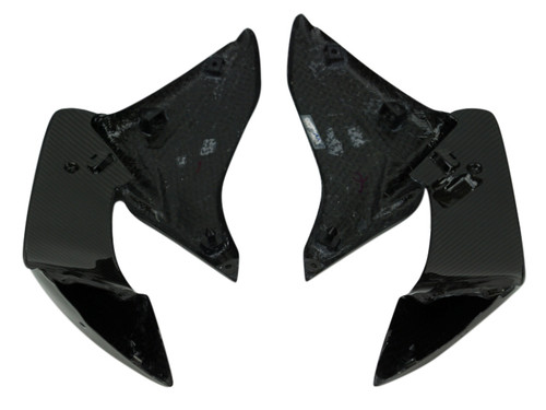 Large Side Panels in Glossy Twill Weave Carbon Fiber for Suzuki GSX-S1000 2015+