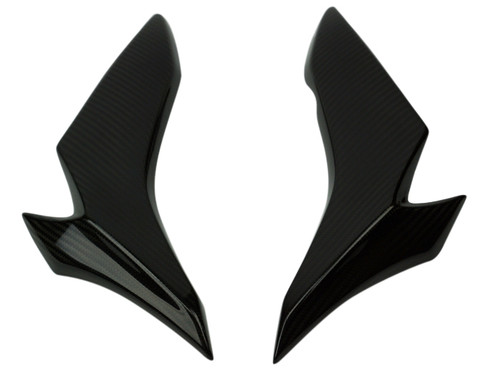Lower Side Panels in Glossy Twill Weave in Carbon Fiber for Suzuki GSX-S1000 2015+