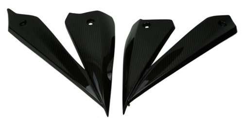 Full Set Belly Pan Panels in Glossy Twill Weave Carbon Fiber for Suzuki GSX-S1000 2015+