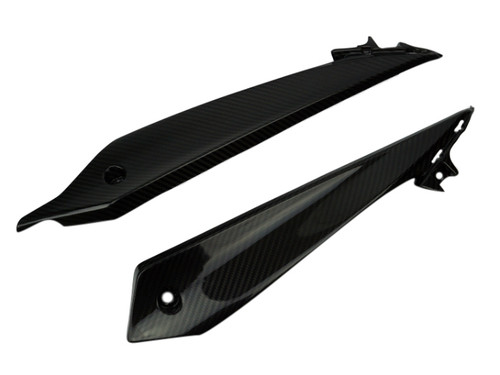 Belly Pan Lower Panels in Glossy Twill Weave Carbon Fiber for Suzuki GSX-S1000 2015+