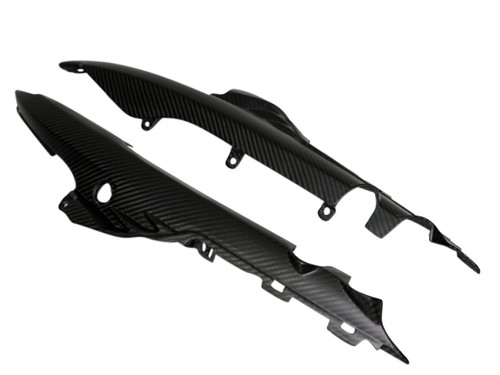 Undertray Side Panels in Matte Twill Weave Carbon Fiber for Suzuki GSX-S1000 2015+
