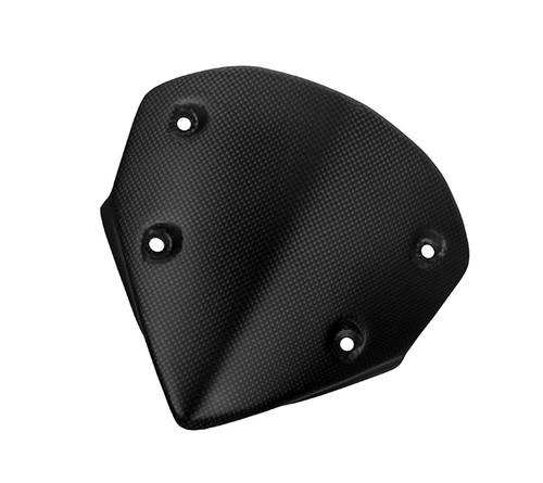 Windshield w/o Brackets in Matte Plain Weave Carbon Fiber for Ducati Hypermotard 821 2013+