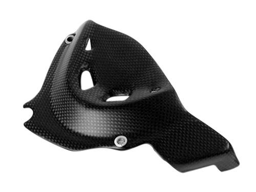 Sprocket Cover in Matte Plain Weave Carbon Fiber for Ducati Monster 821 2014-2017