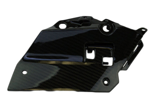 Inside Side Cover in Glossy Twill Weave Carbon Fiber for Yamaha FZ-09/MT-09