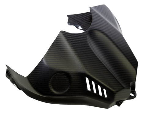 Tank Cover in Matte Twill Weave Carbon Fiber for Yamaha R1 2015+