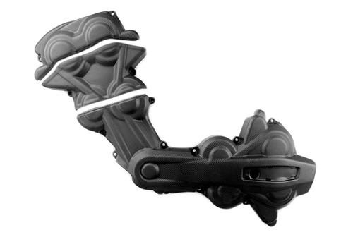 Cam Belt Covers in Matte Plain Weave Carbon Fiber for Ducati Multistrada 1200 2015-2017, Enduro 1200/1260+