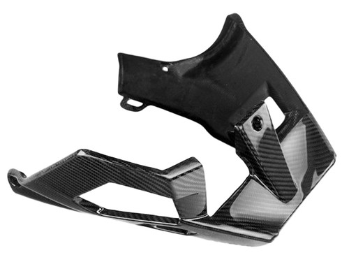 Belly Pan in Glossy Twill Weave Carbon Fiber for Aprilia Tuono 2006-2010