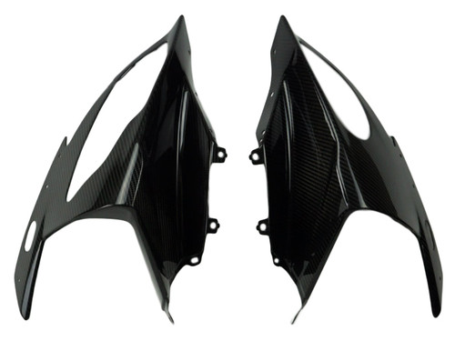 Front Fairing in Glossy Twill Weave Carbon Fiber for BMW S1000RR 2015-2018