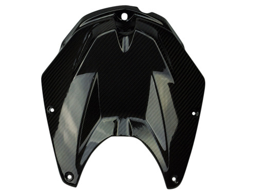 Tank Cover in Glossy Twill Weave Carbon Fiber for BMW S1000RR 2012-2014