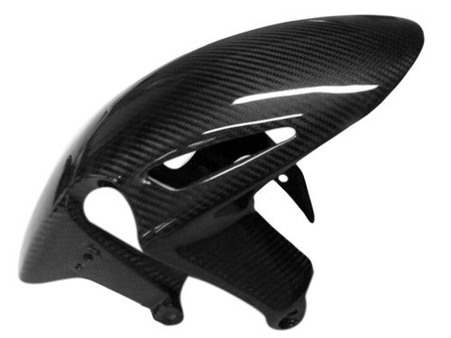 Front Fender in Glossy Twill Weave Carbon Fiber for Honda CBR1000RR   2008+