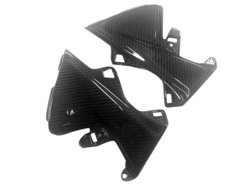 Tank Side Panels in Glossy Twill Weave Carbon Fiber for Honda CBR600RR 2013+
