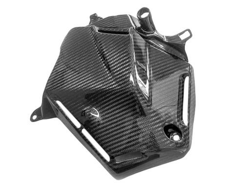 Block Cover RH in Glossy Twill Weave Carbon Fiber for Honda CBR600RR 2013+
