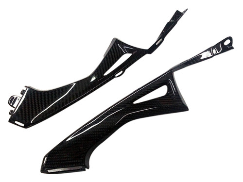 Side Lower Inner Covers in Glossy Twill Weave Carbon Fiber for Honda CBR600RR 2013+