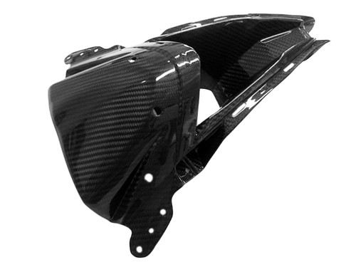 Front Center Nose in Glossy Twill Weave Carbon Fiber for Kawasaki ZX6R 2013-2018