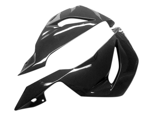 Belly Pan in Glossy Twill Weave Carbon Fiber for Kawasaki ZX6R 2013-2018