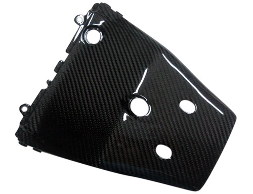 Under Tail Fairing in Glossy Twill Weave Carbon Fiber for Kawasaki ZX10R 2011-2015