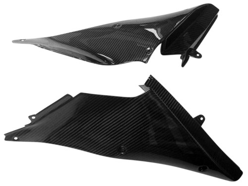 Inner Fairings in Glossy Twill Weave Carbon Fiber for Kawasaki ZX14-ZZR1400 2012+