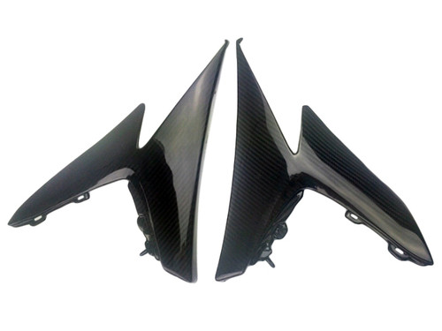 Side Fairings in Glossy Twill Weave Carbon Fiber for Suzuki GSXR 1000 09-16
