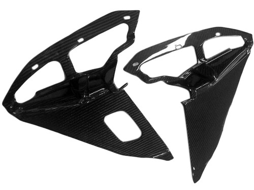 Inner Fairings in Glossy Twill Weave Carbon Fiber for Suzuki GSXR 1000 09-16