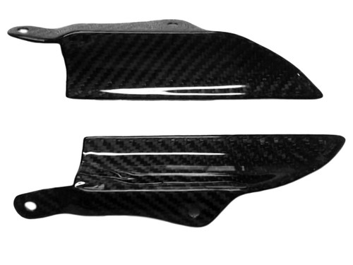 Inner Fairings in Glossy Twill Weave Carbon Fiber for Triumph Daytona 675 09-12