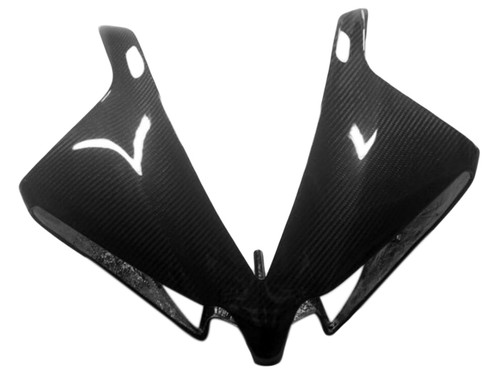 Upper Fairing in Glossy Twill Weave Carbon Fiber for Yamaha R1 12-14
