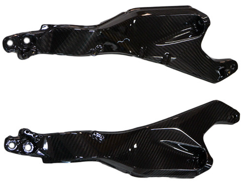 Seat Support Frame in Glossy Twill Weave Carbon Fiber for Kawasaki H2