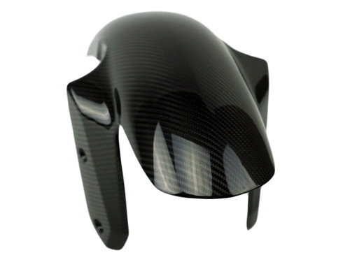 Front Fender in Glossy Twill Weave Carbon Fiber for BMW R1200RS 2015+