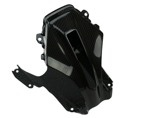Middle of Front Fairing in Glossy Twill Weave Carbon Fiber for BMW R1200RS 2015+