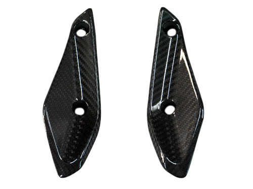 Front Fairing Deflectors in Glossy Twill Weave Carbon Fiber for BMW R1200RS 2015+