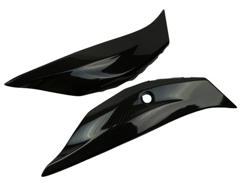 Tail Fairings in glossy twill weave carbon fiber for Kawasaki ZX10R 2016+