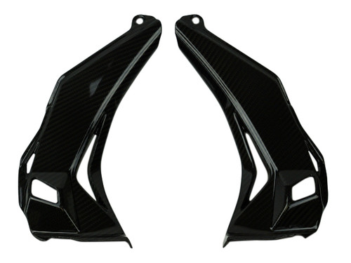 Dash Panels in Glossy Twill weave Carbon Fiber for Kawasaki ZX10R 2016+