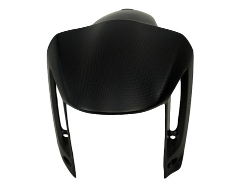 Front Fender in Matte Plain Weave Carbon Fiber for Ducati XDiavel