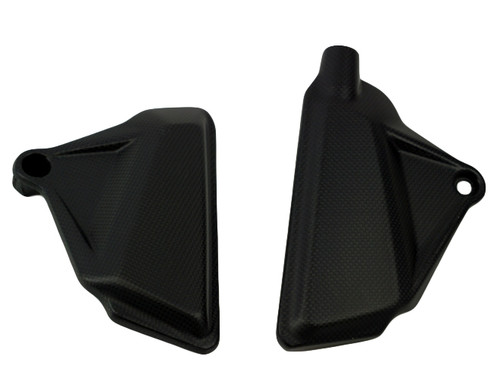 In Frame Covers in Matte plain weave Carbon Fiber for Ducati XDiavel