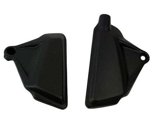 In Frame Covers in Matte plain weave Carbon Fiber for Ducati XDiavel 2017+, Diavel 2019+