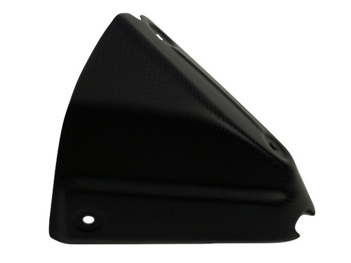 Exhaust Cover in Matte plain weave shown Carbon Fiber for Ducati XDiavel