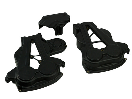 Cam Belt Covers in Matte Plain Weave Carbon Fiber for Ducati XDiavel