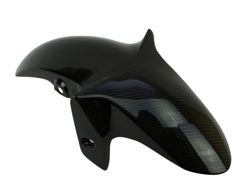 Front Fender w/o sides in Glossy Twill Weave Carbon Fiber for Yamaha FZ-03/ MT-03, R3