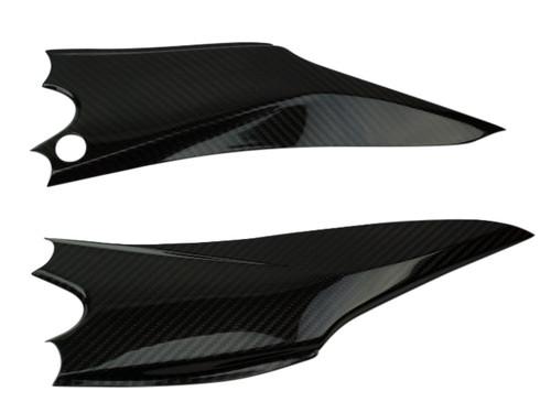 Under Seat Panels in Glossy Twill Weave Carbon Fiber for Suzuki GSXR 600 2011-2019, 750 2011-2019