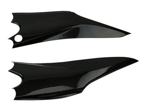 Under Seat Panels in Glossy Twill Weave Carbon Fiber for Suzuki GSXR 600 2011-2019, 750 2011-2019
