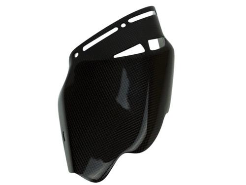 Exhaust Heat Guard (Heat Foil Inside) in Glossy Plain Weave Carbon Fiber for Ducati Multistrada 1200
