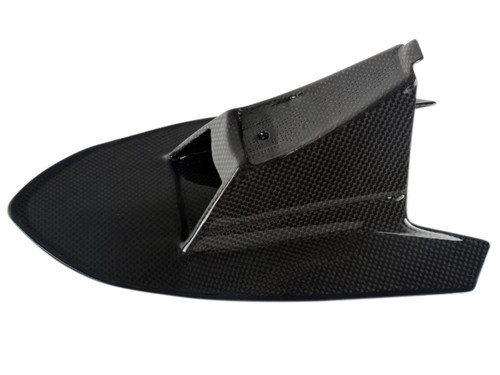 Front Fender Upper Cover in Glossy Plain weave Carbon Fiber for Husqvarna Nuda 900/R 2012-2013