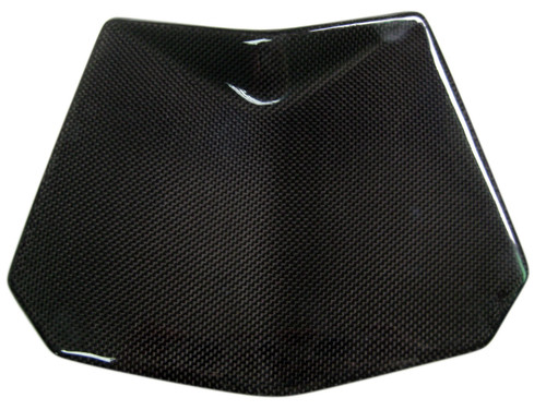 Front Fairing Light Cover in Glossy Plain Weave Carbon Fiber for Husqvarna Nuda 900/R 2012-2013