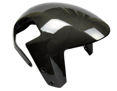 Front Fender (integral) in Glossy Plain Weave Carbon Fiber for KTM 1290 Super Duke R, GT
